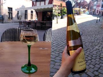 Alsace wine closeup