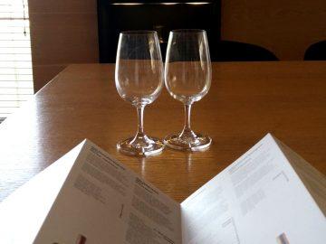 Aegaen wine region tasting table