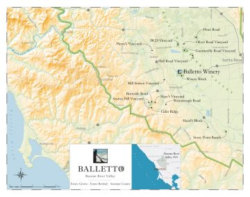 Balletto vineyards map