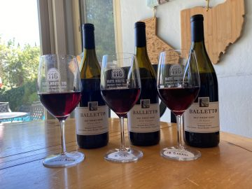Tasting Balletto Pinots Array Of Glasses