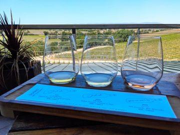 Bovino Vineyards Glasses On Railing