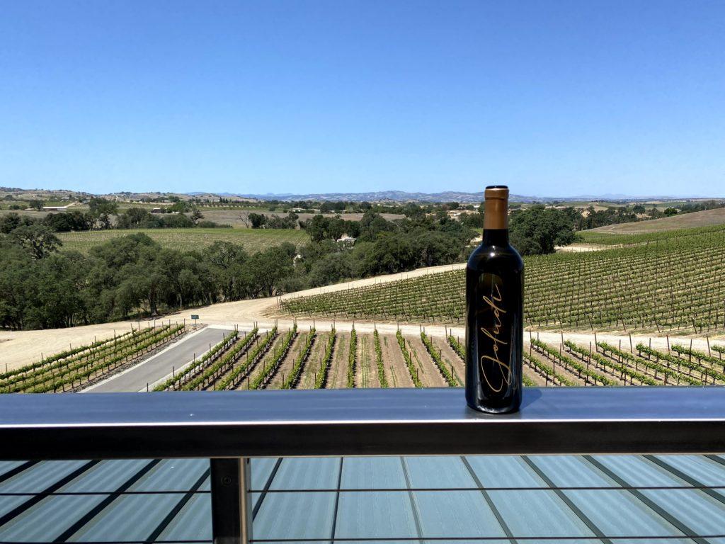 Bovino Vineyards Railing View