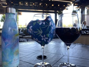 Ruby Hill Afternoon Masked Wine Glass