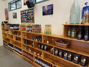 Volcano Winery Wine Shelf